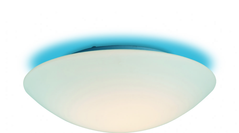 Firstlight CF10BL Opal Glass with Blue Effect Disc Flush Fitting